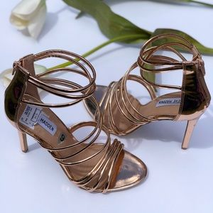 d1c764bc769 Steve Madden Shoes - Steve Madden Strappy copper heels